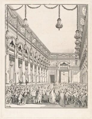 Le festin royal - Fête donnée à l'occasion de la naissance de Monseigneur le Dauphin, 21 janvier 1782