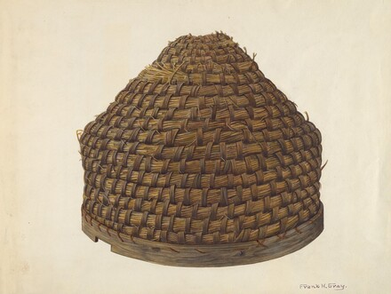 Straw Bee Hive