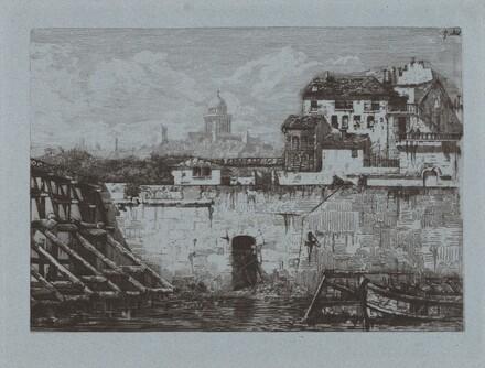 Ruines de l'Hôtel de Brentonvilliers, à la pointe de l'île Saint-Louis