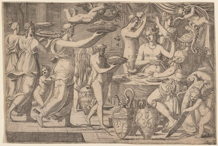 Venus and Mars Served by Cupid and the Three Graces