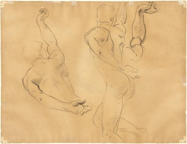 Studies of Male Nudes [verso]
