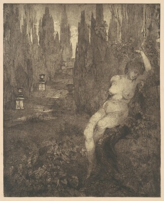 Donna ignuda addormentata nel parco [Naked Woman Asleep in the Park]