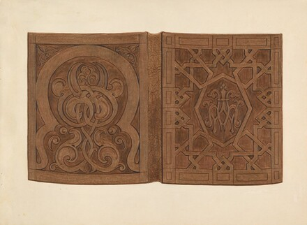Hand-carved Walnut Book Covers