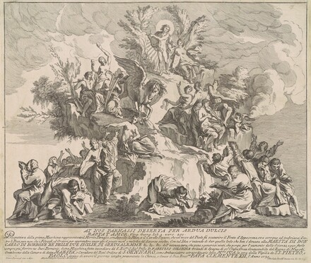 The Prima Macchina for the Chinea of 1739: Mount Parnassus with Apollo, the Muses, and Pegasus