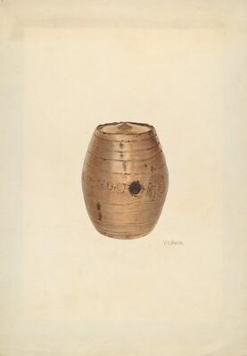 Stoneware Flask