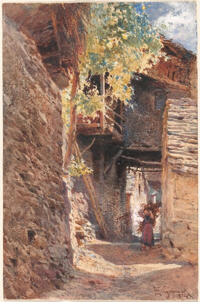 A Village Street in Northern Italy