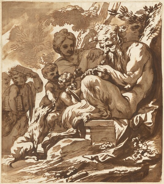 A Satyr Entertaining His Family