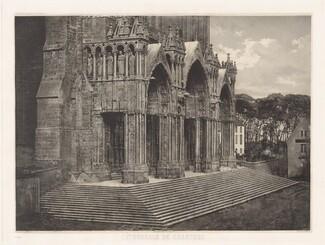 Planche XII – Cathédrale de Chartres, Portique du Midi (Plate XII – Chartres Cathedral, South Entrance)