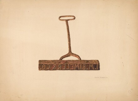 Branding Iron Used for Boxes and Bags