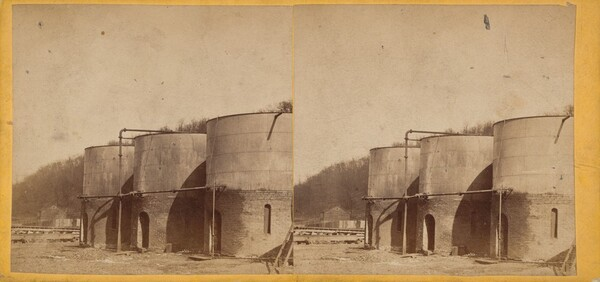Oil Tanks, Clark & Sumner, Standard Petroleum Refinery, Pittsburg, Pennsylvania