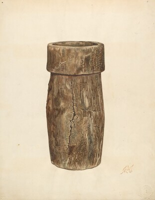 Lead Miner's Wooden Bucket