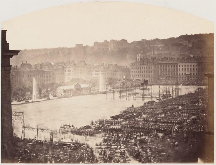 Pierre-Ambrose Richebourg, Assembly of Troops for Napoleon III, Place Bellecour de Lyon, 1860