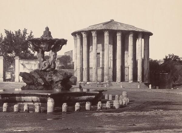 Temple of Vesta and Fountain, Rome