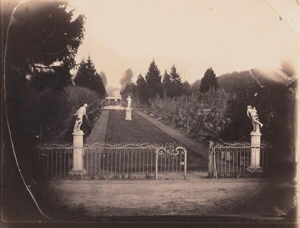 Garden Scene with Statuary