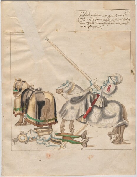 Freydal, The Book of Jousts and Tournaments of Emperor Maximilian I: Combats on Horseback (Jousts)(Volume I): Plate 2