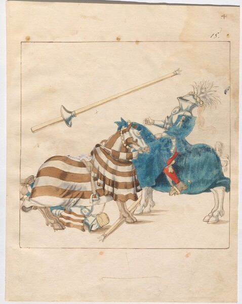 Freydal, The Book of Jousts and Tournaments of Emperor Maximilian I: Combats on Horseback (Jousts)(Volume I): Plate 3