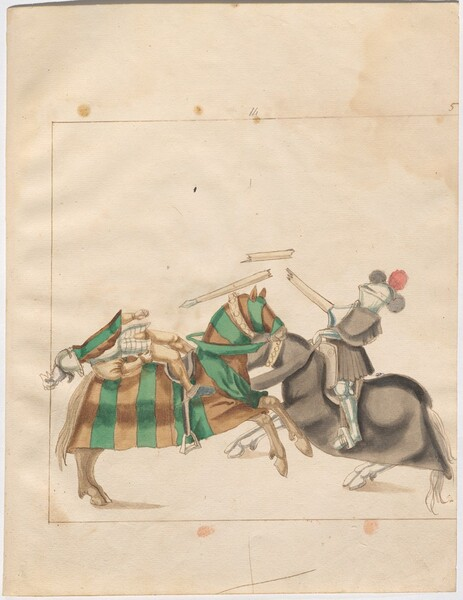 Freydal, The Book of Jousts and Tournaments of Emperor Maximilian I: Combats on Horseback (Jousts)(Volume I): Plate 4
