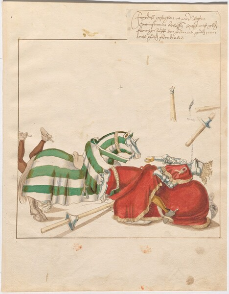 Freydal, The Book of Jousts and Tournaments of Emperor Maximilian I: Combats on Horseback (Jousts)(Volume I): Plate 6
