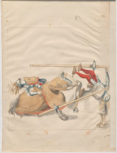 Freydal, The Book of Jousts and Tournaments of Emperor Maximilian I: Combats on Horseback (Jousts)(Volume I): Plate 10