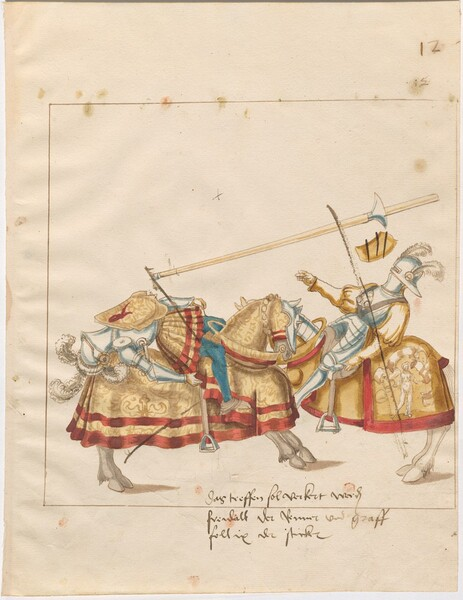Freydal, The Book of Jousts and Tournaments of Emperor Maximilian I: Combats on Horseback (Jousts)(Volume I): Plate 11