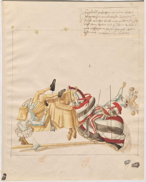 Freydal, The Book of Jousts and Tournaments of Emperor Maximilian I: Combats on Horseback (Jousts)(Volume I): Plate 13