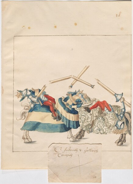 Freydal, The Book of Jousts and Tournaments of Emperor Maximilian I: Combats on Horseback (Jousts)(Volume I): Graf Friedrich von Zollen Plate 17