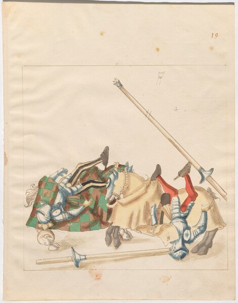 Freydal, The Book of Jousts and Tournaments of Emperor Maximilian I: Combats on Horseback (Jousts)(Volume I): Plate 18