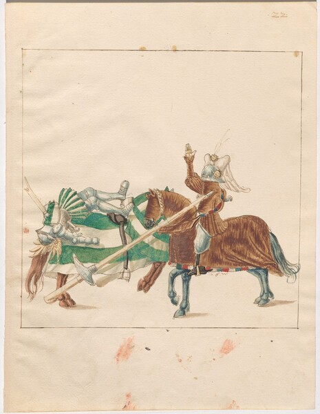 Freydal, The Book of Jousts and Tournaments of Emperor Maximilian I: Combats on Horseback (Jousts)(Volume I): Plate 21