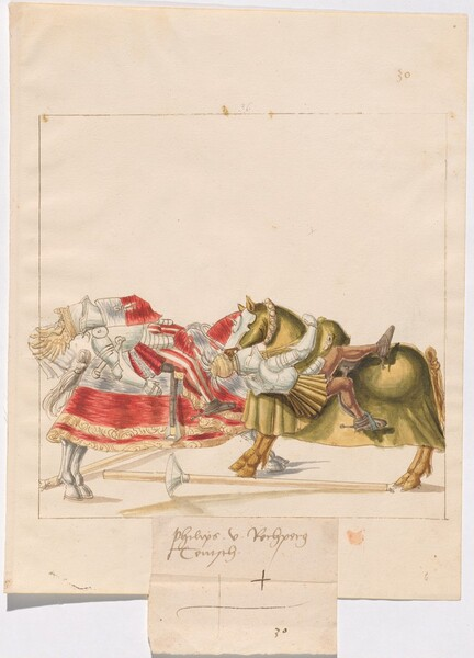 Freydal, The Book of Jousts and Tournaments of Emperor Maximilian I: Combats on Horseback (Jousts)(Volume I): Phillipp vin Rechberg Plate 29