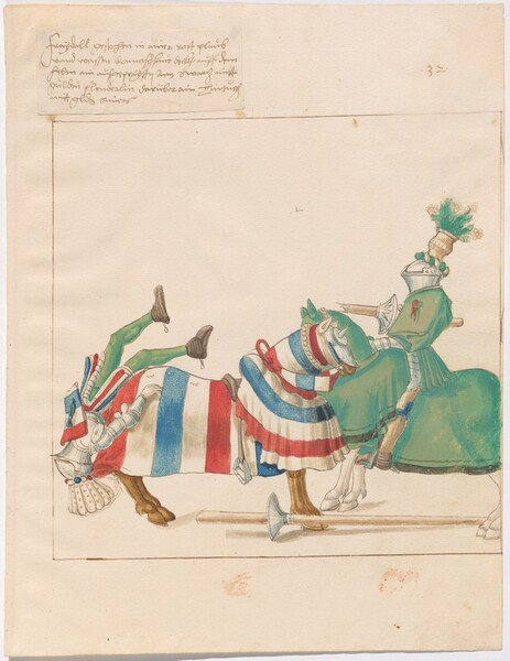 Freydal, The Book of Jousts and Tournaments of Emperor Maximilian I: Combats on Horseback (Jousts)(Volume I): Plate 31