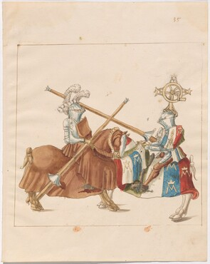 Freydal, The Book of Jousts and Tournaments of Emperor Maximilian I: Combats on Horseback (Jousts)(Volume I): Plate 33
