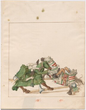 Freydal, The Book of Jousts and Tournaments of Emperor Maximilian I: Combats on Horseback (Jousts)(Volume I): Plate 42