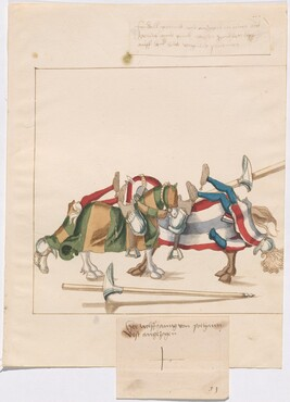Freydal, The Book of Jousts and Tournaments of Emperor Maximilian I: Combats on Horseback (Jousts)(Volume I): Wolfgang von Polhaim Plate 50