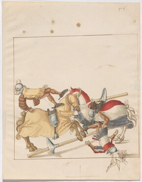 Freydal, The Book of Jousts and Tournaments of Emperor Maximilian I: Combats on Horseback (Jousts)(Volume I): Plate 53