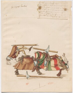 Freydal, The Book of Jousts and Tournaments of Emperor Maximilian I: Combats on Horseback (Jousts)(Volume I): Christoph Lamberger Plate 54