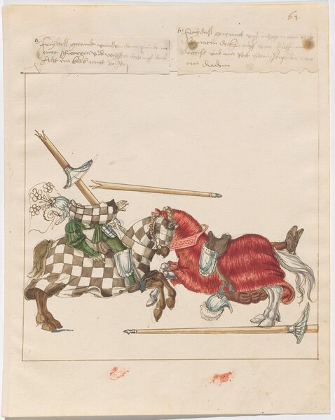 Freydal, The Book of Jousts and Tournaments of Emperor Maximilian I: Combats on Horseback (Jousts)(Volume I): Plate 58