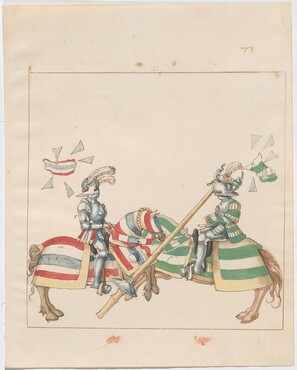 Freydal, The Book of Jousts and Tournaments of Emperor Maximilian I: Combats on Horseback (Jousts)(Volume I): Plate 65