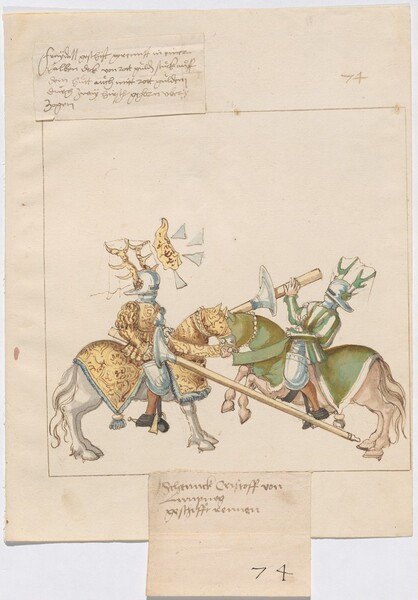 Freydal, The Book of Jousts and Tournaments of Emperor Maximilian I: Combats on Horseback (Jousts)(Volume I): Schenck Christoff von Limpurgk Plate 66