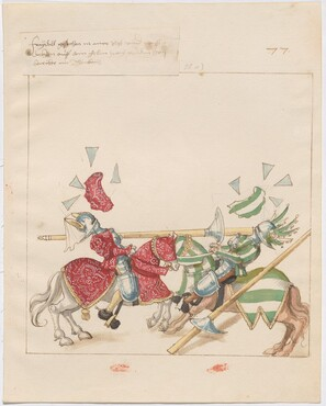 Freydal, The Book of Jousts and Tournaments of Emperor Maximilian I: Combats on Horseback (Jousts)(Volume I): Plate 69