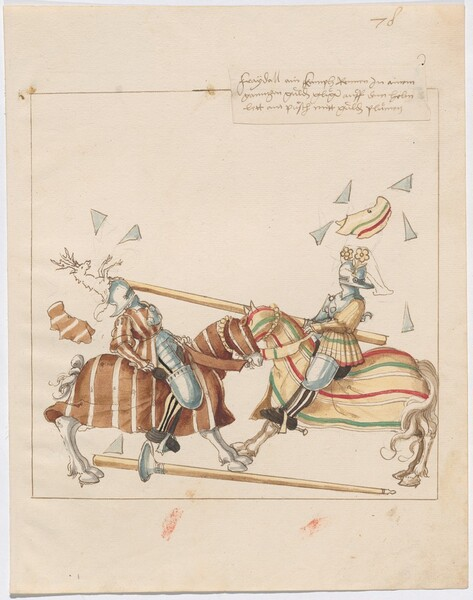 Freydal, The Book of Jousts and Tournaments of Emperor Maximilian I: Combats on Horseback (Jousts)(Volume I): Plate 70