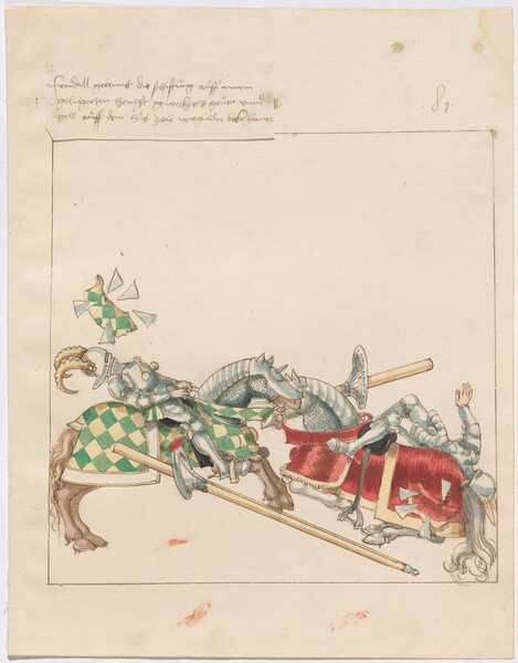 Freydal, The Book of Jousts and Tournaments of Emperor Maximilian I: Combats on Horseback (Jousts)(Volume I): Plate 72