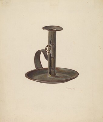 Candlestick and Holder