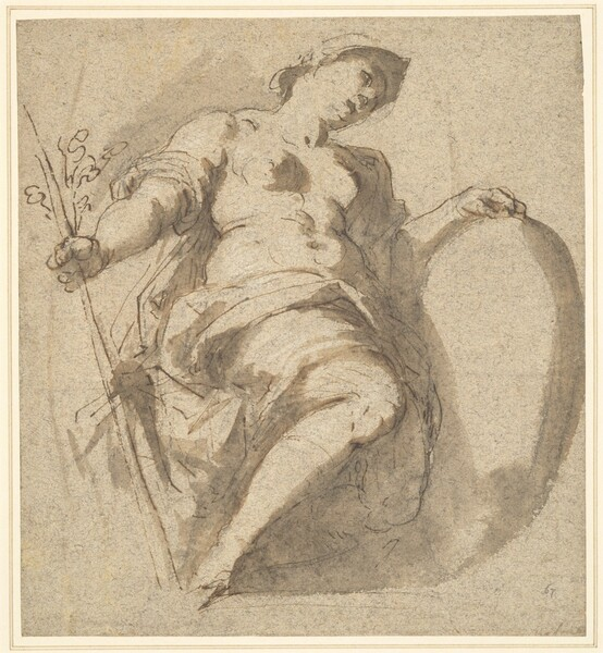 Minerva Holding a Shield and Branch