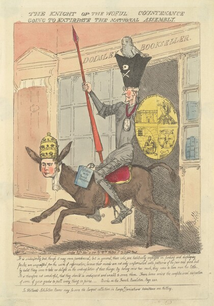 The Knight of the Woeful Countenance Going to Extirpate the National Assembly