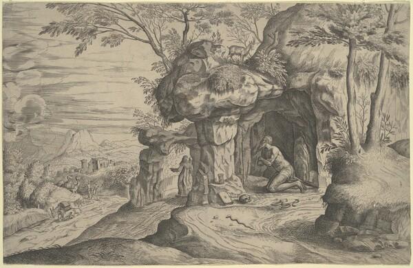 Landscape with Penitent Saints