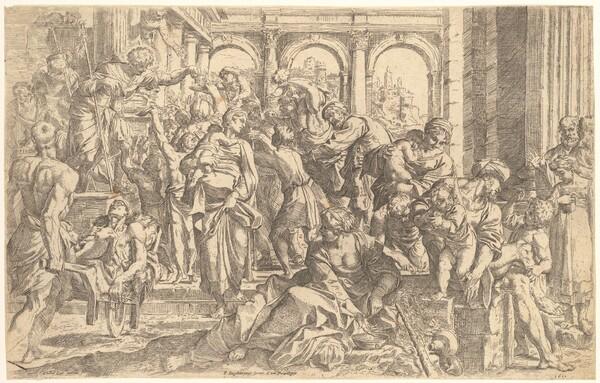 Saint Roch Distributing Alms