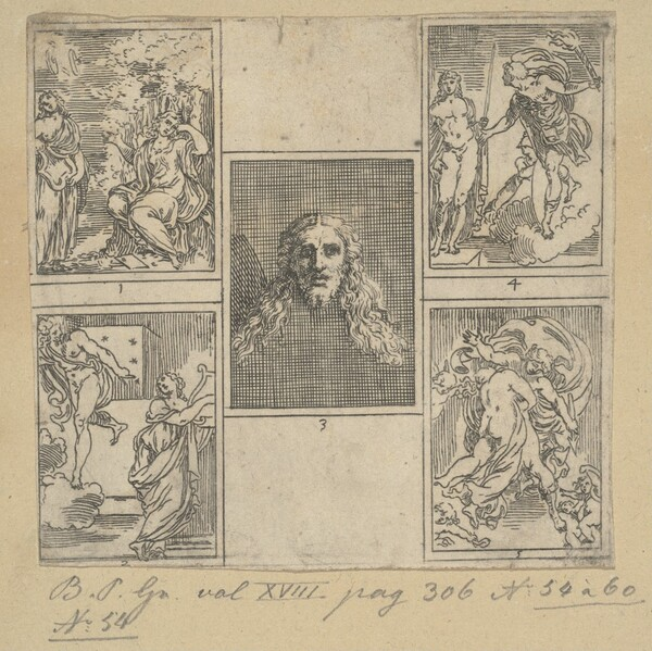 The Obsequies of Agostino Carracci: First Plate
