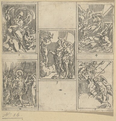 The Obsequies of Agostino Carracci: Second Plate