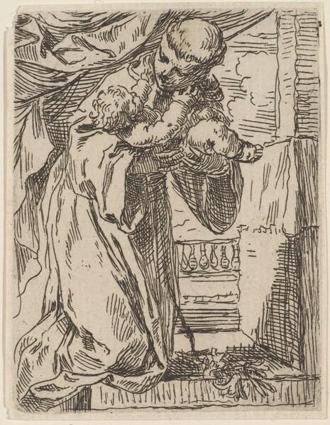 Saint  Anthony of Padua Holding the Christ Child