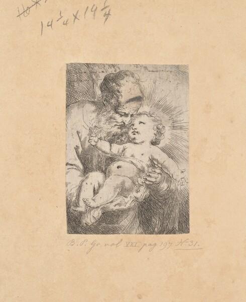 Saint Joseph in Half-Length, Holding the Christ Child